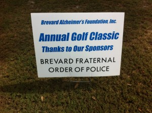 Annual Golf Classic Sign
